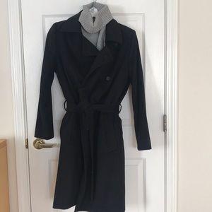 Classic wrap wool coat